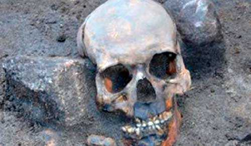 череп захороненного вампира