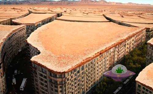 город на Марсе