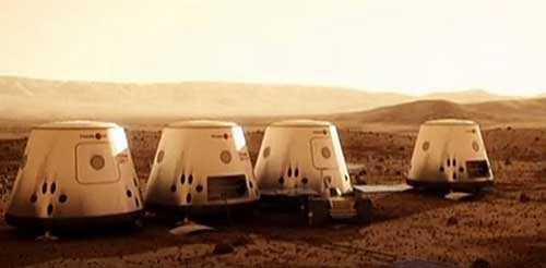 первое поселение на Марсе