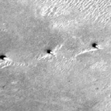 На Марсе обнаружили три высокие башни.