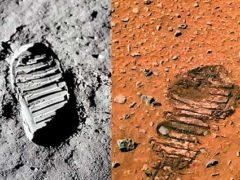 Люди были на Марсе? Фото НАСА показывает след ноги космонавта.