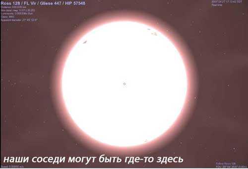 Красная карликовая звезда Росс 128 живет в созвездии Девы