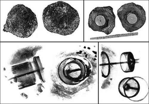 Рентгеновские изображения артефакта
