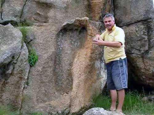 след великана? артефакт древней цивилизации?