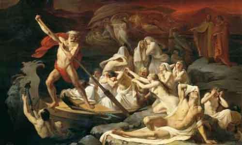 Харон,-известный лодочник, перевозящий в царство мертвых