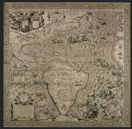старая карта 1500 года