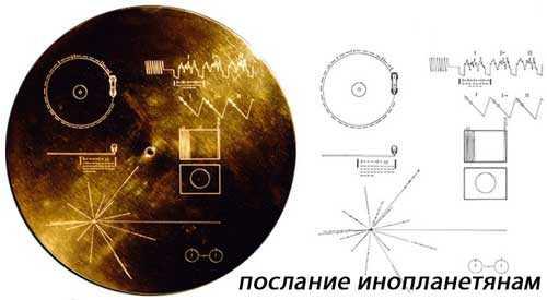 золотой диск на борту Вояджера