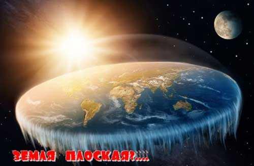 Вид планеты в теории Плоская Земля