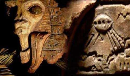 Инопланетяне или фантазия древнего художника, а может неизвестная цивилизация