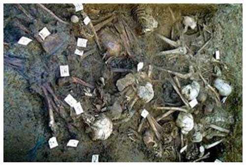 Останки египетской армии библейского Исхода по дну Красного моря