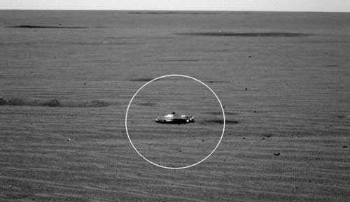 Космический корабль инопланетян на Марсе