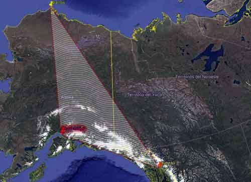 Треугольник Аляски, место многочисленных исчезновений.