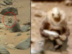 Статуя марсианского солдата.