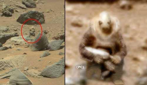 окаменелая статуя марсианского солдата