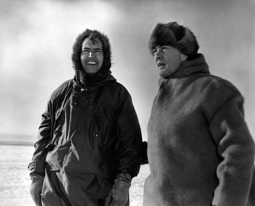 Адмирал Берд (справа) с доктором Паулем Силлом в Антарктиде, 1947 год.