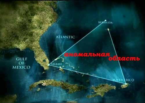 Бермудский треугольник, аномальная зона опасности