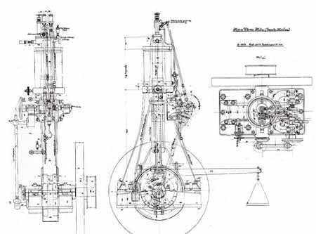 Первый набросок будущего двигателя, выполненный рукой Дизеля
