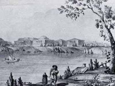Рисунок Джакомо Кваренги Дворец в Пелле. Начало-XIX века