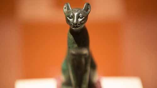 бронзовая статуэтка кошки из Египта, 1076-723 до н.эры