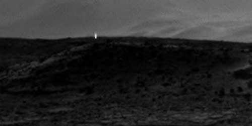 вновь яркий свет появился на поверхности Марса