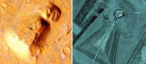 Марсианская гробница идентичная древней японской гробнице