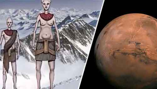 Марсианская цивилизация нашла убежище в Антарктиде из-за катастрофы на Марсе