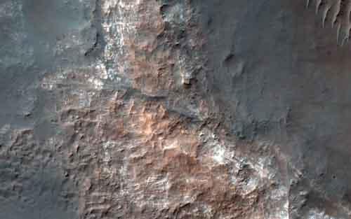 Озеро соленой воды на Марсе