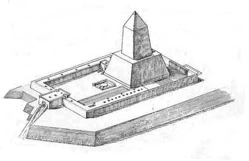 храм Абу-Гораб в представлении египтолога Людвига Борхардт