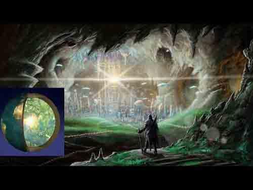 подземный мир в Путешествии к центру Земли, Жюль Верн