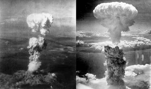 Аэрофотоснимки атомной бомбардировки Хиросимы и Нагасаки