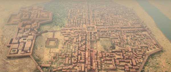 Художественное представление Мохенджо-Даро до уничтожения