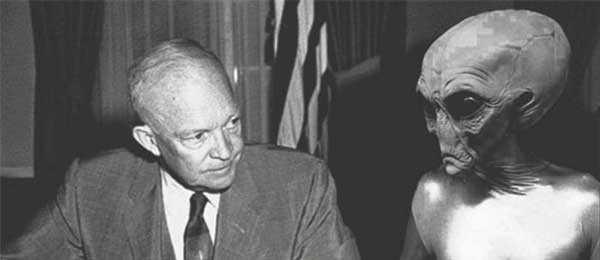 Американский президент Эйзенхауэр общался с инопланетянами