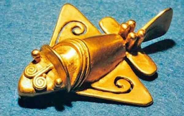 Древние фигурки Колумбии, самолеты исчезнувших цивилизаций