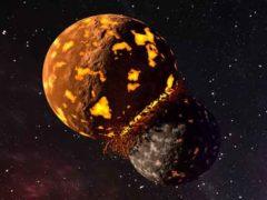 Великое столкновение образовало Луну и сохранило часть древней Земли.