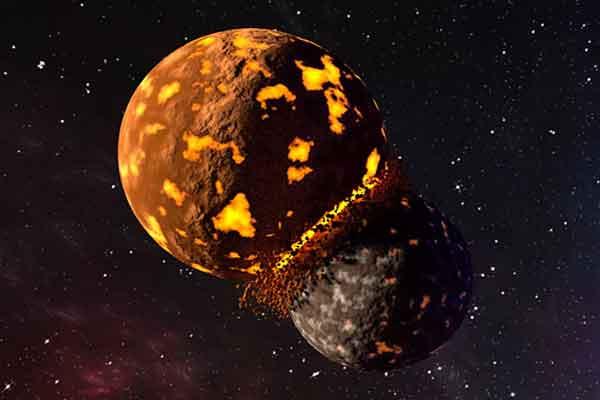 Столкновение планет сформировало Луну и сохранило часть древней Земли