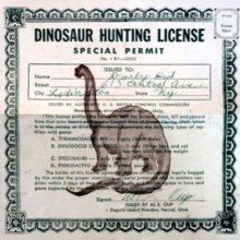 Получить лицензию на охоту на динозавров.