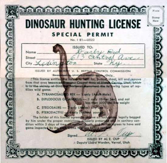 Лицензия для охоты на динозавров