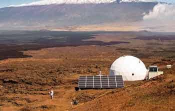 имитируя жизнь в марсианской деревне