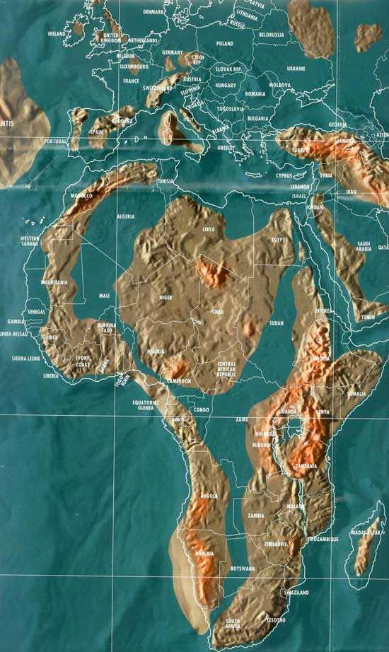 Карта будущего Африки Гордона-Майкла Скаллиона