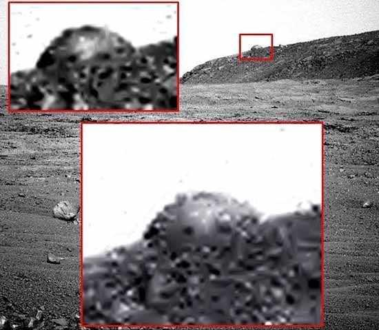 действительно странные вещи на ряде марсианских изображений