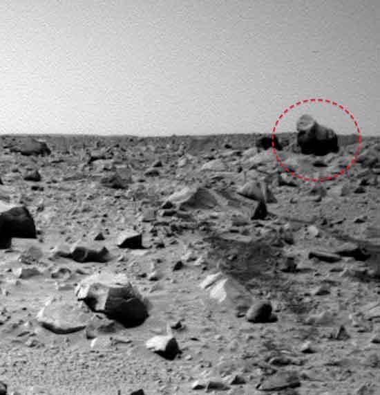 На Марсе был обнаружен инопланетянин.