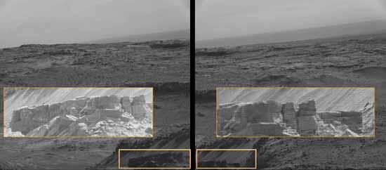 Некоторые считают, что это искусственно построенная каменная стена на Марсе