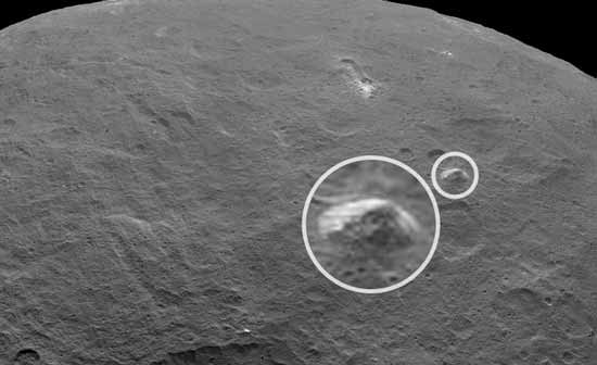 Церера, объект пирамида, космическая база инопланетян