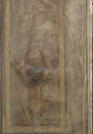 Изображение Дьявола найденное внутри Кодекс Гигас