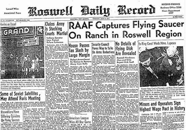 Инцидент в Розуэлле с крушением НЛО стал сенсацией на долгие годы
